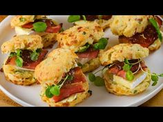 Streaky Bacon Scones | D'Orsogna Recipe - YouTube Deli Counter, Large Bowl, Cheddar Cheese, Salmon Burgers, Scones, Bacon, Rolls, Stuffed Peppers, Fresh