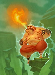 Karnov of course! He comes from the heavens and blows fire. yea, i don't get it either. But cool dude. Ryan Jones, David Jones, Game Character, Character Design, Cool Artwork, Amazing Artwork, Fat Art, Art For Art Sake, Famous Artists