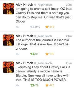 Alex Hirsch | Bless this creator. | Gravity Falls