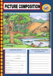 picture composition worksheets for kindergarten - Google ...
