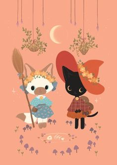 A5 Print | Witch Cats