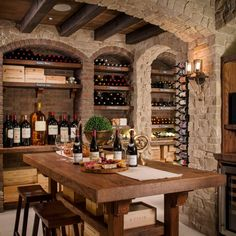 Looking for Rustic Storage and Utility and Wine Cellar ideas? Browse Rustic Storage and Utility and Wine Cellar images for decor, layout, furniture, and storage inspiration from HGTV. Tonneau Bar, Wine Cellar Basement, Home Wine Cellars, Wine Tasting Room, Tasting Table, Wine Cellar Design, Basement Bar Designs, Wood Wine Racks, Rustic Stone