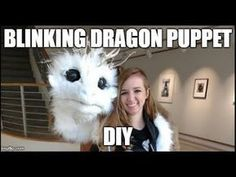 How to make a Blinking Dragon Puppet Cosplay Tutorial, Cosplay Diy, Halloween Cosplay, Puppet Costume, Marionette Puppet, Puppet Patterns, Doll Patterns, Make A Dragon, Dragon Puppet