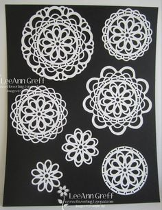 Large Paper Doily die from Flowerbug's Inkspot