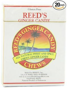 Reed's Ginger Candy Chews, 9-count (Pack of 20): Amazon.com: Grocery & Gourmet Food - My favorites and really hard to find!
