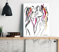 Reproduction of a digital illustration.Canvas 60 x 80 cmSigned and numbered - 10 units