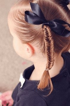 It is back to school time and your kids around all the days whether at school, Two Ponytails, Twist Ponytail, Pigtail Braids, Two Braids, Long Braids, Braided Ponytail, Cute Girls Hairstyles, Hairstyles For School, Ponytail Hairstyles