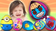 BAD BABY CRYING and Learn COLORS with Colorful SURPRISE EGGS - Nursery R...