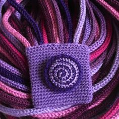 zamotek we fioletach Crochet Shawl, Weaving, Wraps, Beanie, Vogue, Purple, Knitted Scarves, Shawls, Fashion