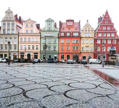 old market square in poland full of colour / wroclaw, poland taken by travelinagnes Oh The Places You'll Go, Places To Travel, Travel Destinations, Places To Visit, Holiday Destinations, Poland Travel, Italy Travel, Beautiful Places, Wonderful Places