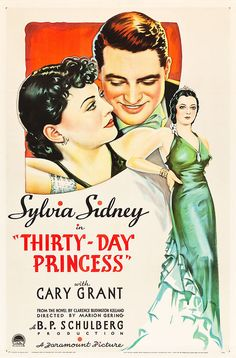 Vintage movie poster for the Thirty Day Princess in 1934 http://www.movietrip.me/