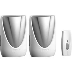 Byron Sentry Wireless Plug In Door Chime Twin Pack 100m. Wireless door chime with 100m  sc 1 st  Pinterest & Find Byron Db312 Wireless Port \u0026 Plugin Door Chime Kit at Homebase ...