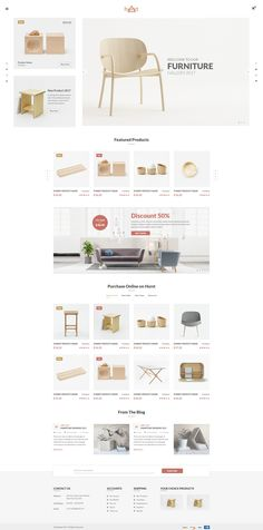Buy Hurst - eCommerce PSD Template by codecarnival on ThemeForest. Hurst is the premium PSD template for furniture eCommerce shop. Easy and intuitive shopping experience. Icon Design, Layout Design, Web Design, House Design, Ecommerce Shop, Ecommerce Websites, Responsive Layout, Html Templates, Website Layout