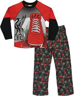 Liverpool F.C. Liverpool Boys Liverpool FC Pyjamas Liverpool Football Club Age 8 to 9 Years Kids Liverpool FC pyjamas. A must for footie fans, these official Liverpool FC pyjama set includes a long sleeved top and full-length bottoms. The top features an LFC log (Barcode EAN = 5055939540702) http://www.comparestoreprices.co.uk/december-2016-3/liverpool-f-c-liverpool-boys-liverpool-fc-pyjamas-liverpool-football-club-age-8-to-9-years.asp