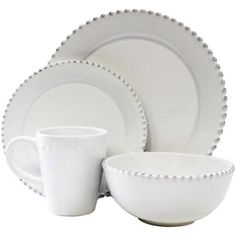 American Atelier Bianca Bead Round 16-Piece Dinnerware Set - $74.90