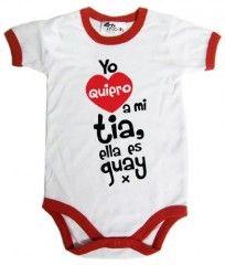 Dirty Fingers, Yo quiero a mi tia, ella es guay x, Bebés Body con borde, blanco con rojo, 3-6 meses