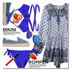 """Romper and bikini"" by svijetlana ❤ liked on Polyvore featuring Soludos, Christian Dior, bikini, romper and zaful"