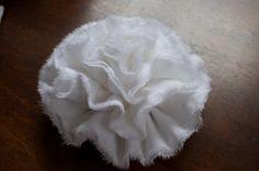 fabric flower wreath {tutorial} | Little Birdie Secrets