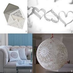 DIY doily envelope + a collection of DIY projects that are all about lace and doilies.