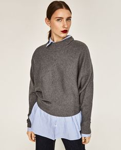 Image 2 of BATWING SLEEVE SWEATER from Zara