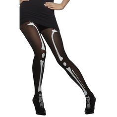 Pin For Later Get Under The Skin Of Halloween With Skull And Skeleton Prints Smiffys Opaque Black Skeleton Print Tights Smiffys Opaque Black Skeleton Print