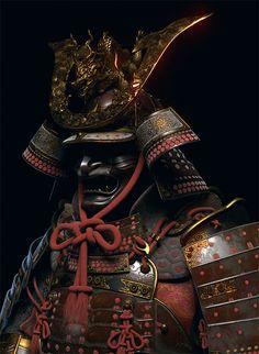 Showcase of Designs & Illustrations of Samurai Warriors Japanese Culture, Japanese Art, Kabuto Samurai, Samourai Tattoo, Hanya Tattoo, Samurai Wallpaper, Outdoor Survival Gear, Samurai Artwork, Japanese Warrior