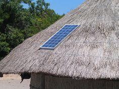 Painel Solar, Telhado, Palha