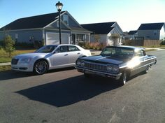 The pair. 1964 Impala SS and 2011 Chrysler 300C.