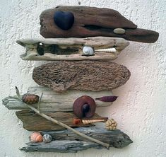 Read all of the posts by Recovery Focusing on Suzanne Noel - Naturally Beautiful Art Rock Sculpture, Driftwood Sculpture, Ribbon Sculpture, Driftwood Art, Pebble Painting, Pebble Art, Stone Painting, Seashell Crafts, Beach Crafts