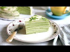 MATCHA CREPE CAKE recipe - Cách làm bánh CREPE TRÀ XANH NGÀN LỚP (How to make mille crepe) - YouTube