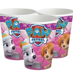 Pink Paw Patrol Cups - Paper Party Cups (Pack of Paw Patrol Cups, Paw Patrol Badge, Paw Patrol Party, Pink Happy Birthday, Happy Birthday Parties, Birthday Celebrations, Paw Patrol Balloons, Paw Patrol Birthday Invitations, Pink Bowls