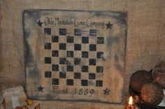 Primitive Game Board Handmade