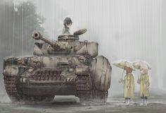 Anime,Аниме,Girls und Panzer,itsumi erika,nishizumi maho,Anime Art,Аниме арт, Аниме-арт