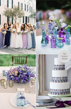Shades of Blue + Purple http://www.theperfectpalette.com/2013/10/now-trending-shade-of-blue-purple.html