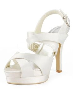 online shopping for ElegantPark Women High Heel Peep Toe Sandals Pumps Strappy Satin Wedding Bridal Shoes from top store. See new offer for ElegantPark Women High Heel Peep Toe Sandals Pumps Strappy Satin Wedding Bridal Shoes Stilettos, Strappy High Heels, Stiletto Heels, Cute Wedding Dress, Fall Wedding Dresses, Colored Wedding Dresses, Trendy Wedding, Summer Wedding, Bridal Sandals