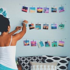 I'm gonna do this with my room one day. Dream Rooms, Dream Bedroom, Girls Bedroom, Bedrooms, Bedroom Ideas, My New Room, My Room, Surf Room, Beach Room