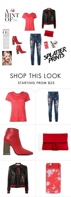 """""""Red splatter"""" by brandikw on Polyvore featuring Proenza Schouler, Dsquared2, Emilio Pucci, Ann Taylor, Gucci, Cynthia Rowley and Burberry"""