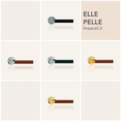 Elle Pelle | The Italian tradition of the artistic working of leather gives an extremely pleasant, soft and luxurious grasp to a collection that stands out for its sophisticated yet simple design. #handles #doorhandle #doorhandles #lineacali #maniglie #round #modern #design #brass #klamki #ручки #manillas #klinken #leather
