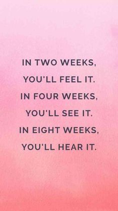 """In two weeks, you'll feel it. In four weeks, you'll see it. In eight weeks, you'll hear it."" —Unknown #motivation #motivationalquotes #inspirationalquotes #fitness #fitnessmotivation #workout #workoutmotivation #exercise #goals #summer #summerbody #fitnessgoals"