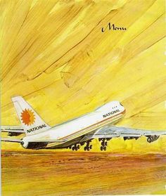 Vintage Travel Posters, Vintage Ads, Vintage Airline, National Airlines, Alaska Airlines, Old Signs, Boeing 747, Yesterday And Today, Air Travel