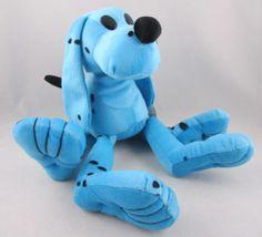 "Dave and Busters 13"" Stuffed Plush Blue Puppy Dog Animal Black Spots Floppy | eBay"