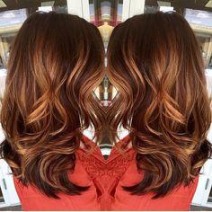 ✨ gorgeous copper #balayage ✨ @saravioletlarose