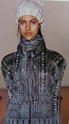 Issey Miyake Pleats please 2001 - printed aran knit image for winter.