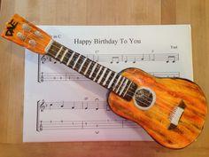Ukulele birthday cake!