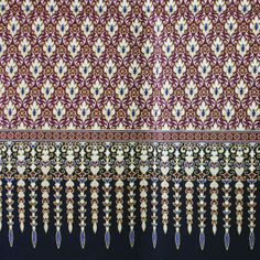 purple and gold print  pure cotton traditional by TheThailand, $17.00