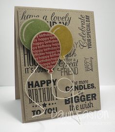 Birthday Balloons TLC441 by TreasureOiler - Cards and Paper Crafts at Splitcoaststampers