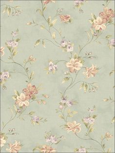 Brewster Home Fashions The Cottage Lorraine Lily x Floral Wallpaper Color: Blue