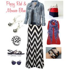 From the blog : South Paw Style : Get the Look : Poppy Red and Monaco Blue