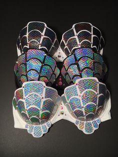 Rave Bra | Mermaid Bra | Holographic | Iridescent | EDC Bra | Burning Man | Playa | Festival Wear | The Shelly Bra | Made to Order |