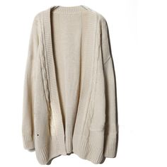 Oversize Beige Twist Embroidered Cardigan ($54) ❤ liked on Polyvore featuring tops, cardigans, outerwear, jackets, cardigan top, oversized cardigan, beige cardigan, embroidered top and embroidery top